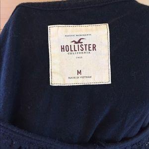 Hollister Tops - Hollister Navy lace blouse medium